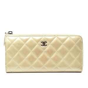 Auth Chanel Wallet Cc Mark Patent #3409C51
